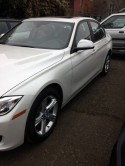 2013 BMW 323i with 2 new doors.