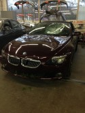 BMW 650i wrecked frt end