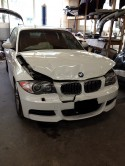 BMW 135i wrecked