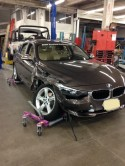 BMW 320i wrecked