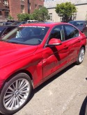 BMW 335i wrecked