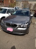 BMW 5 series wrecked