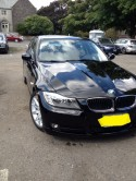 repaired front end damage on BMW 3 series
