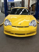 small repair to bumper on Porsche GT