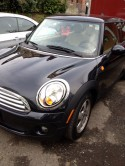 Mini Cooper after repairs to front end
